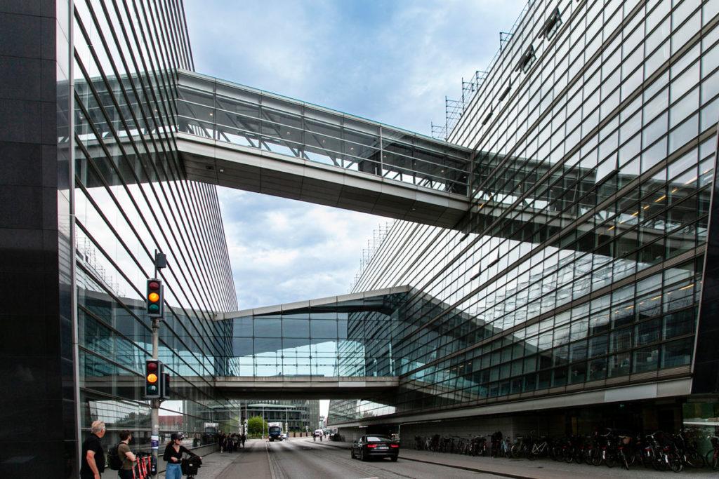 Corridoi del The Black Diamond - Biblioteca Copenaghen