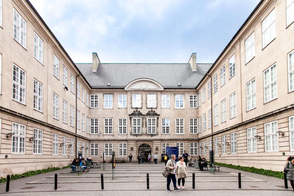 Ingresso Principale Nationalmuseet - Museo Nazionale Danese a Copenaghen