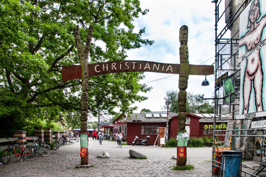 Ingresso a Christiania - Città Libera di Copenaghen