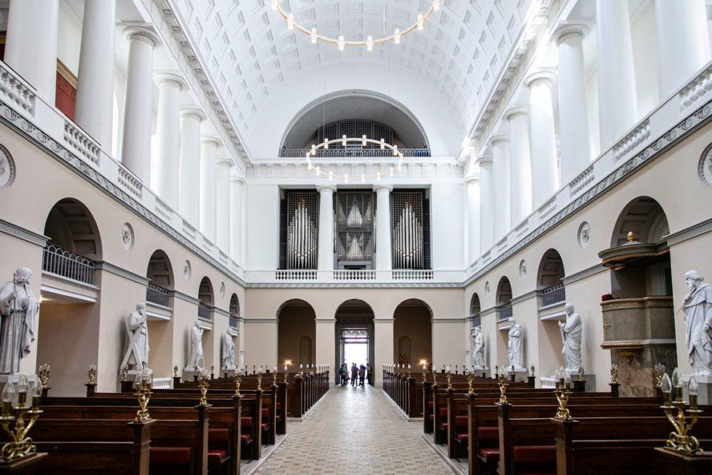 Organo e ingresso nella cattedrale di Copenaghen