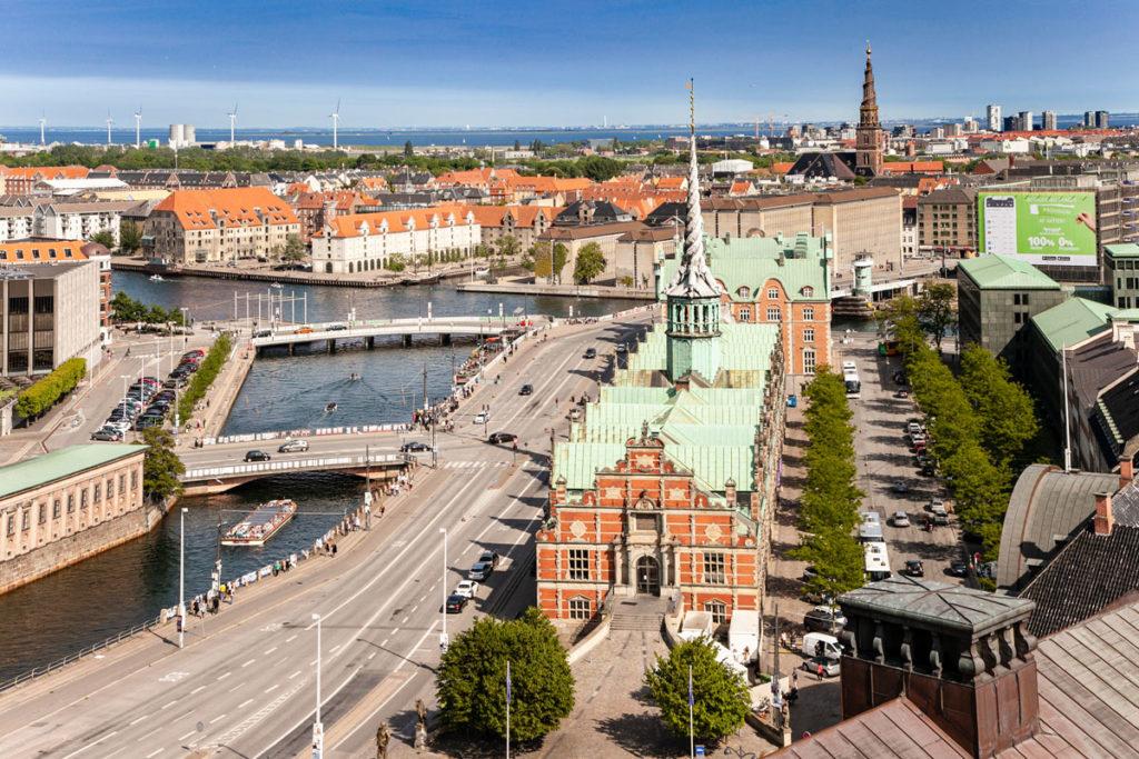 Panorama su Copenaghen e Borsen