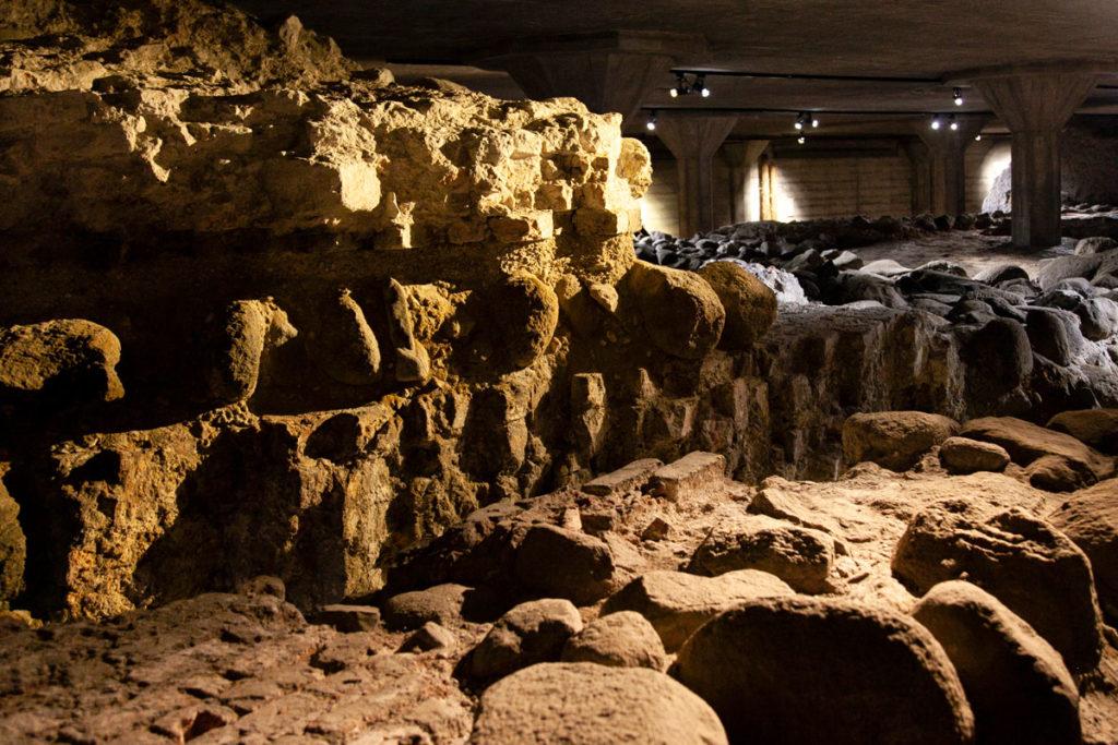 Ricostruzione storica di Christiansborg Slot nelle rovine sotterranee
