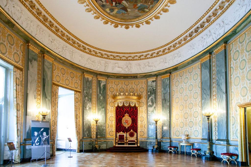 Sala del Trono negli appartamenti reali di Christiansborg Slot