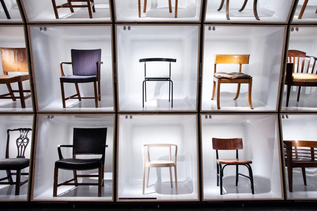 Sedie in esposizione - Design Museum Danmark – Museo del Design Danese