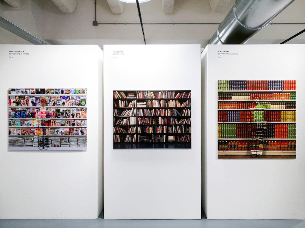 Espositore di Riviste del 2011 - Libri d'Arte del 2012 - Bibite Analcoliche del 2013 - Liu Bolin