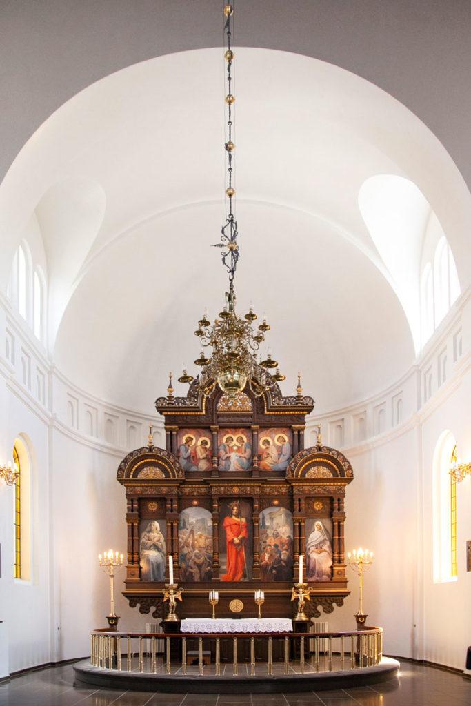 Altare e pala d'Altare della Chiesa Vor Frue Kirke