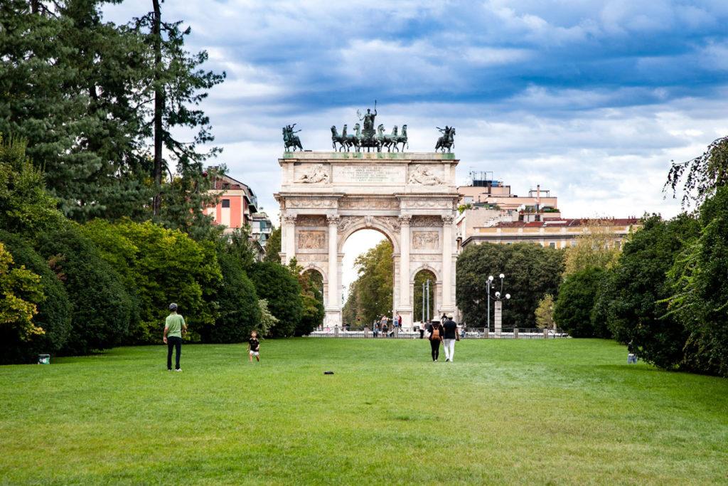 Arco della Pace di Milano visto da Parco Sempione