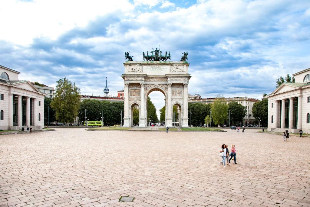 Arco della pace di Milano e caselli daziari dell'arco - Piazza Sempione
