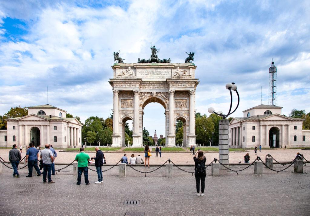 Arco della pace e caselli daziari di Porta Sempione