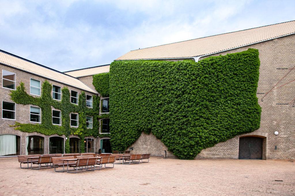Bei palazzi immersi nel verde nel quartiere universitario