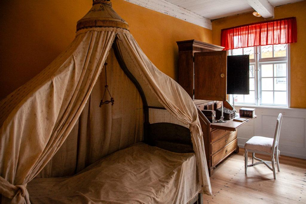 Camera da letto antica abitazione danese