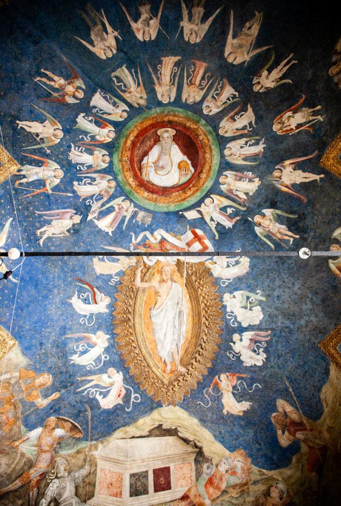 Cappella ducale - Affresco con Cristo e angeli
