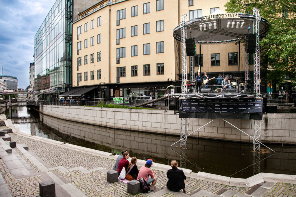 Concerto sul fiume ad Aarhus - Via Aboulevarden