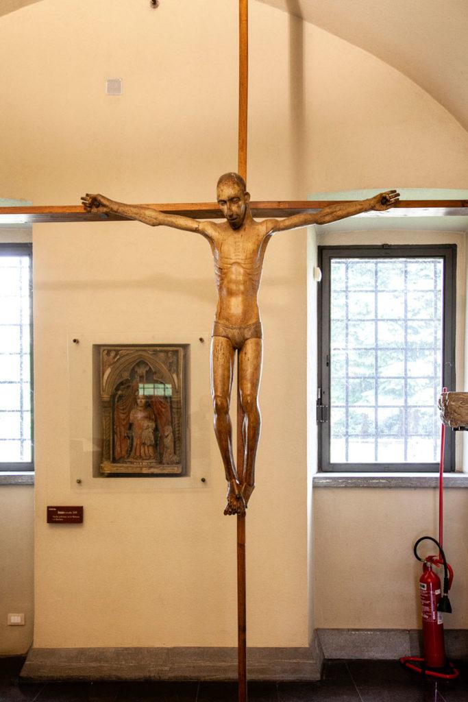 Crocifisso ligneo - Cristo dalla testa rasata - Castello Sforzesco