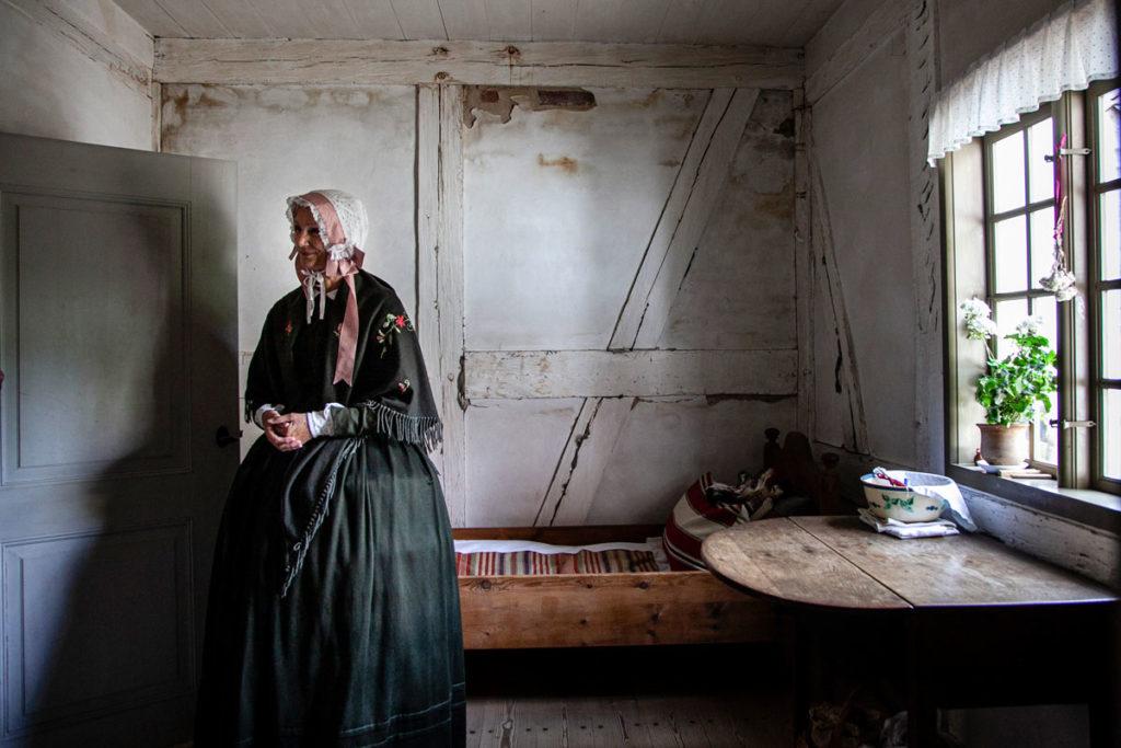Dentro le abitazioni tipiche danesi del XIX secolo