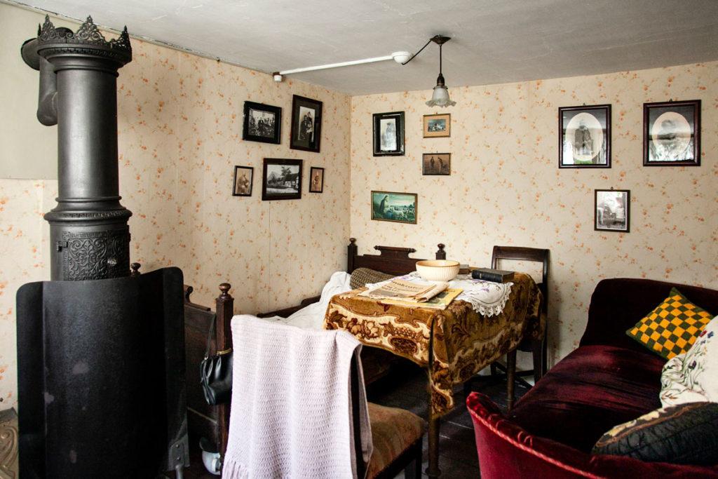 Dentro una antica casa danese - Cucina e Sala