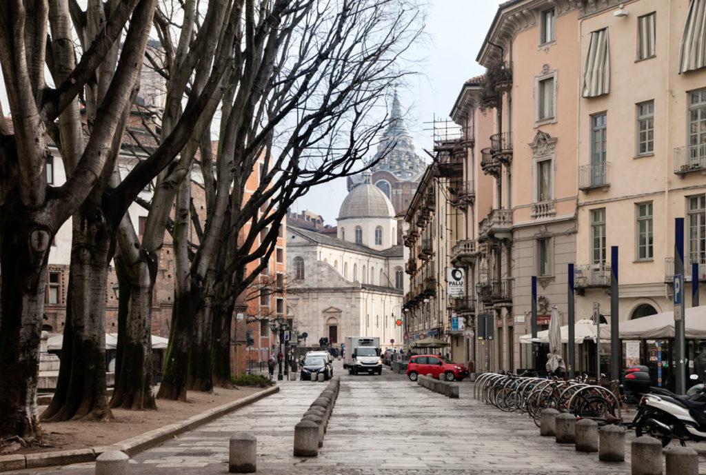 Duomo di Torino Nascosto tra gli alberi
