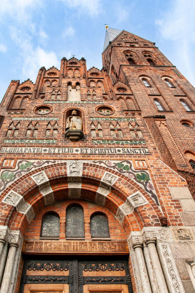 Facciata Chiesa di Sankt Alban ad Odense