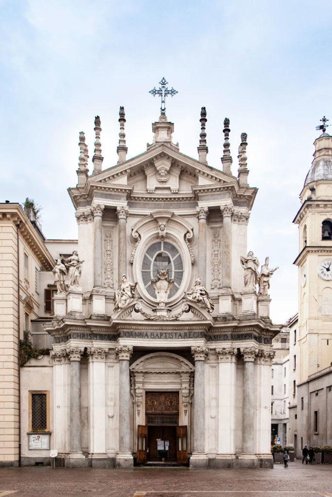 Facciata Chiesa di Santa Cristina - Piazza San Carlo