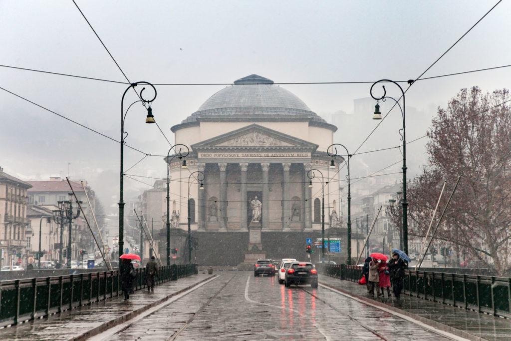 Facciata della chiesa della Gran Madre di Dio - Torino