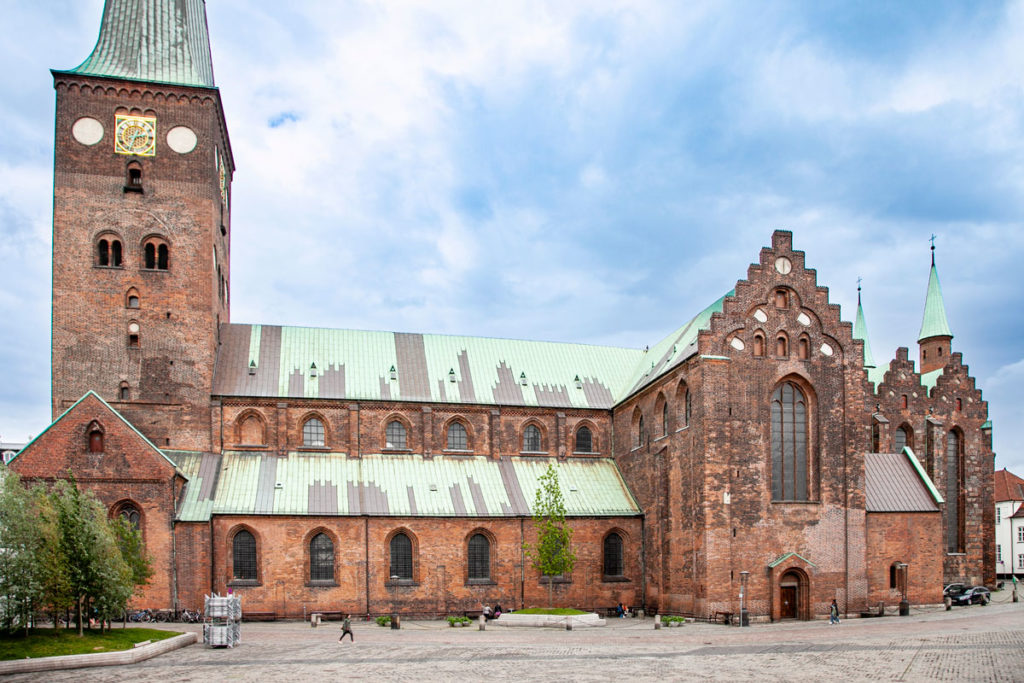Fianco del duomo di Aarhus