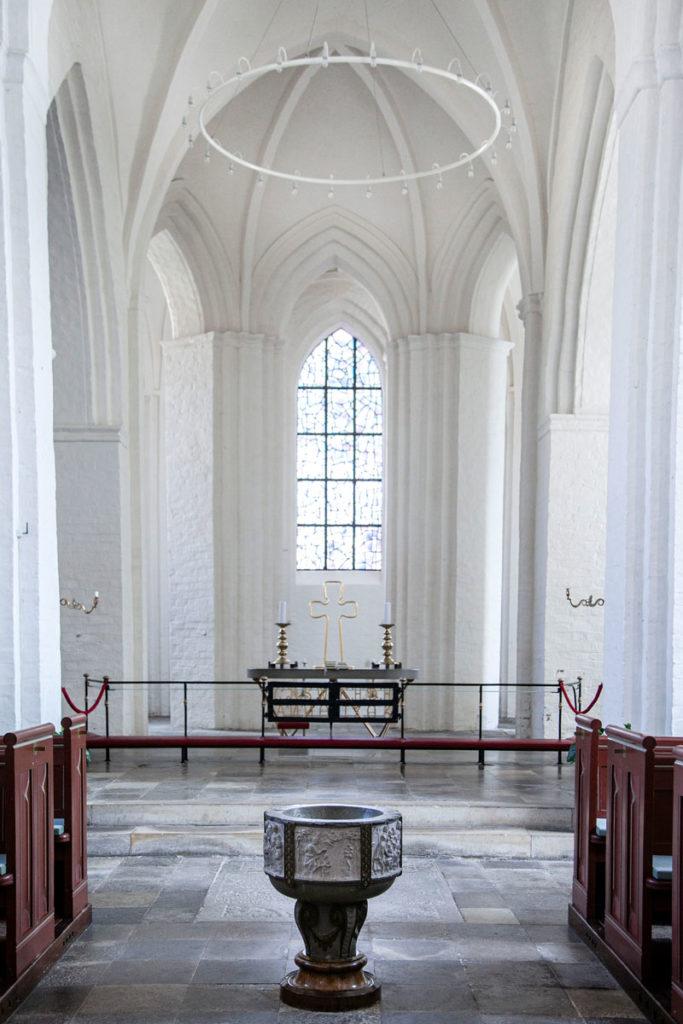 Fonte battesimale del 1625 - Stege Kirke - Isola di Mon