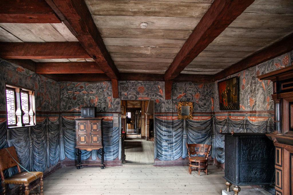 Interi dipinti di una casa del XIX secolo danese - Quartiere Storico Den Gamle By