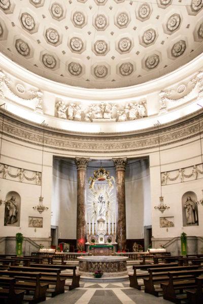 Interni circolari e cupola della Chiesa della Gran Madre di Dio - Torino