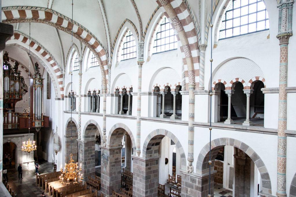 Interni della Cattedrale di Ribe visti dalla torre