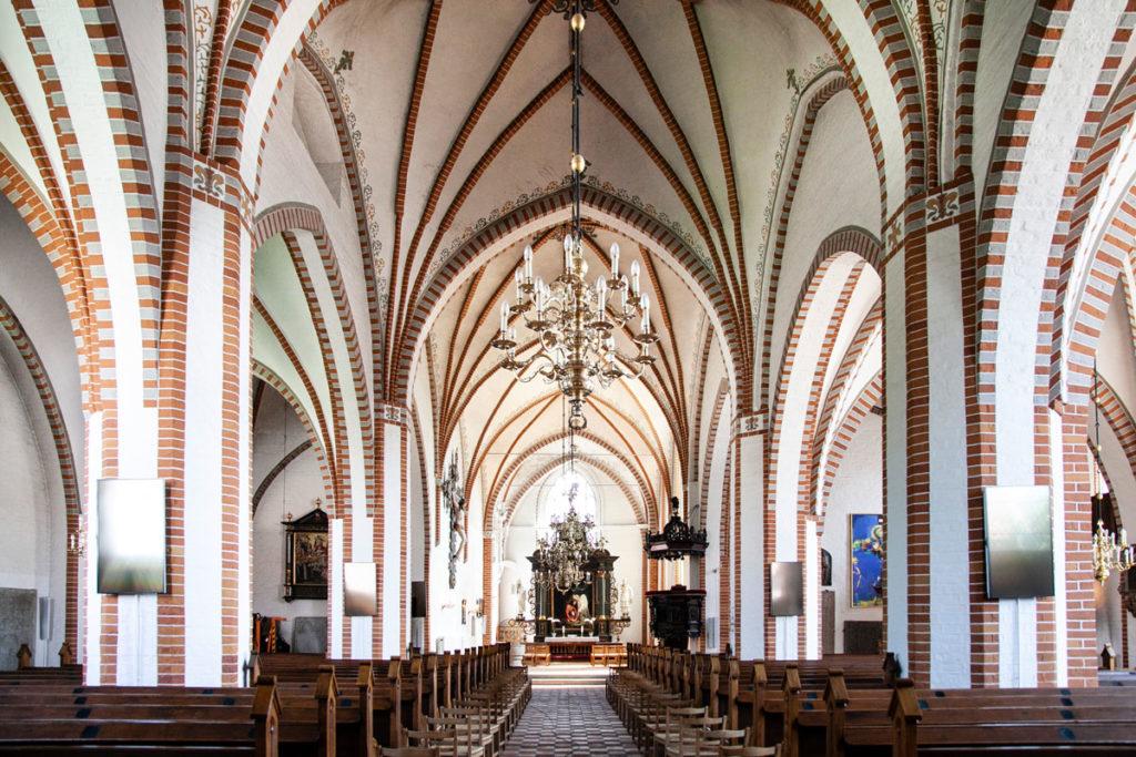 Interni della Chiesa Luterana Vor Frue Kirke - Battesimo Andersen