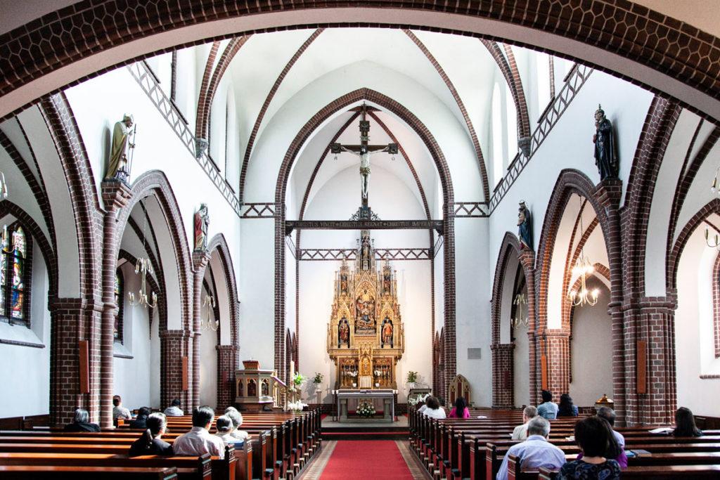 Interni della Chiesa di Sankt Alban di Odense