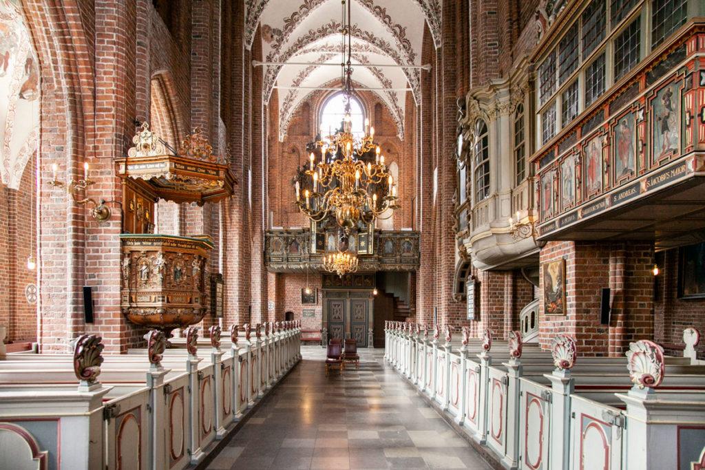 Interni della chiesa di Santa Maria di Helsingør