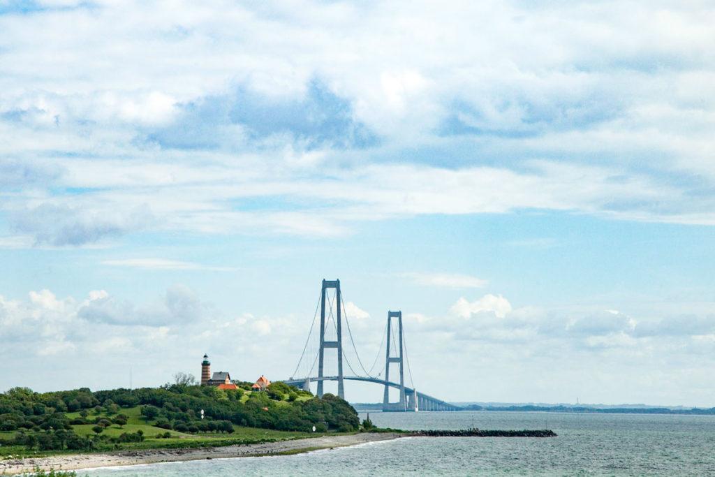 Isola di Sprogo e Ponte Sospeso Ostbroen - Storebæltsbroen - Danimarca