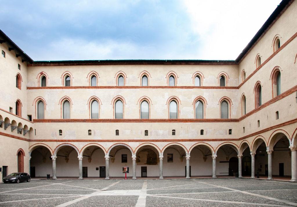 La Rocchetta del Castello Sforzesco - porticati