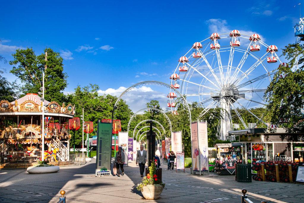 Le giostre del Tivoli Friheden - Luna park di Tivoli