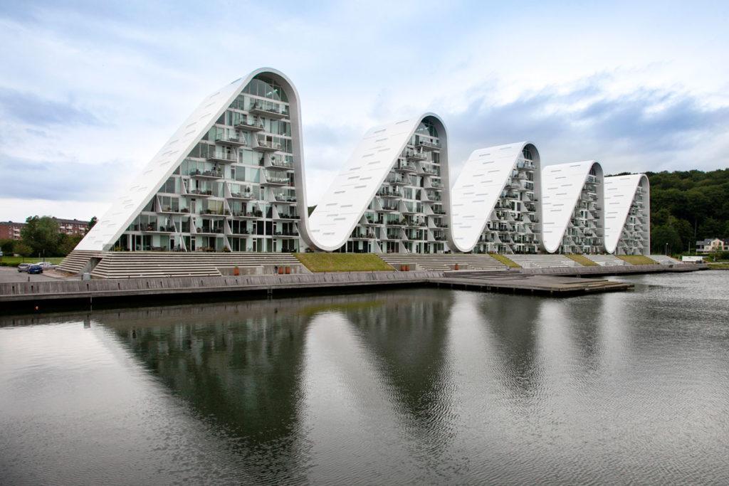 Le onde di Vejle - condominio moderno a Vejle