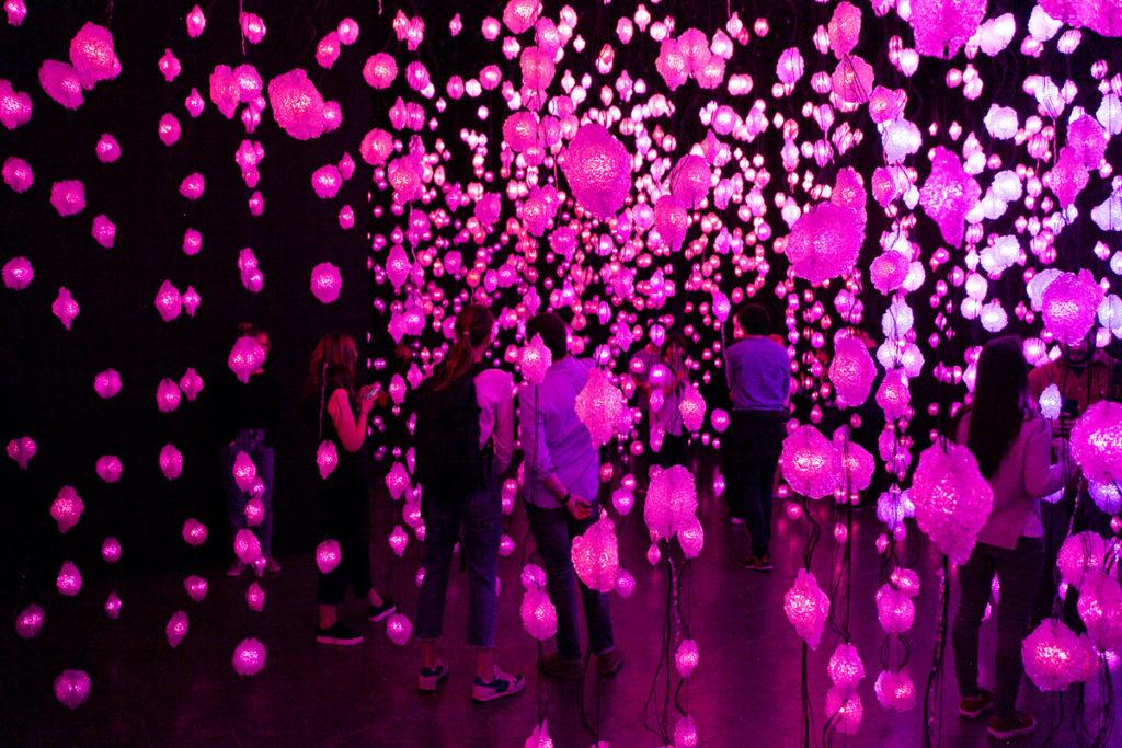 Luci che piovono dal soffitto nella arte contemporanea di Pipilotti Rist
