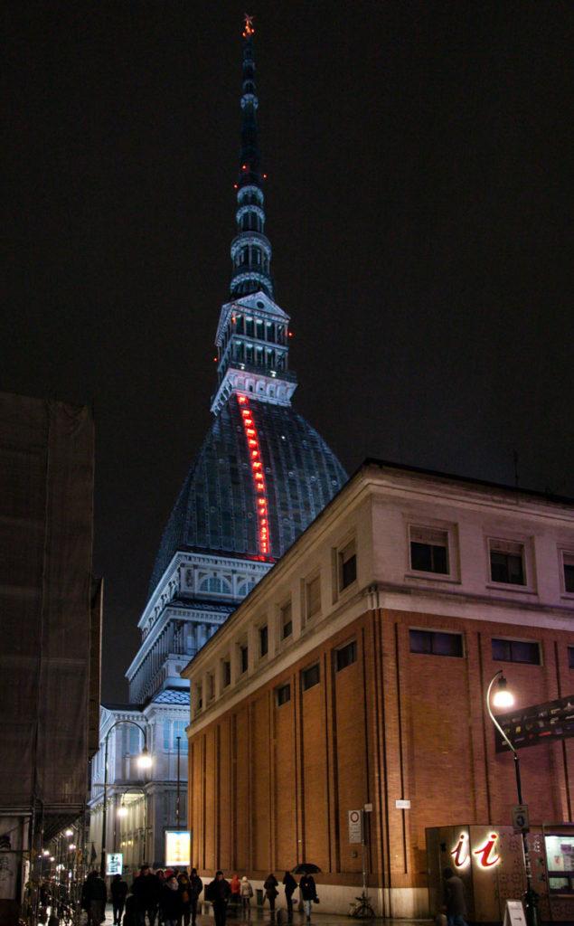 Mole Antonelliana di Torino di Notte