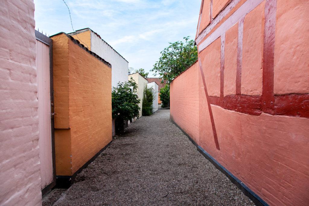 Mura Colorate delle Case nel quartiere di Andersen