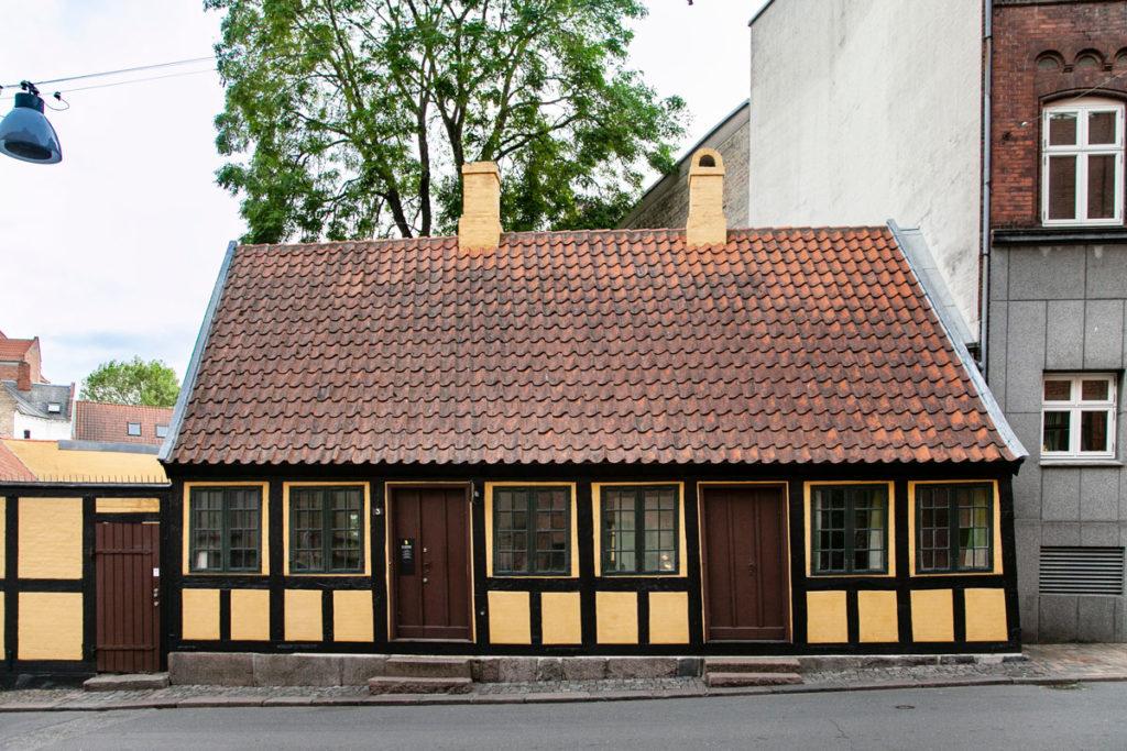 Museo nella casa della infanzia dello scrittore Andersen ad Odense