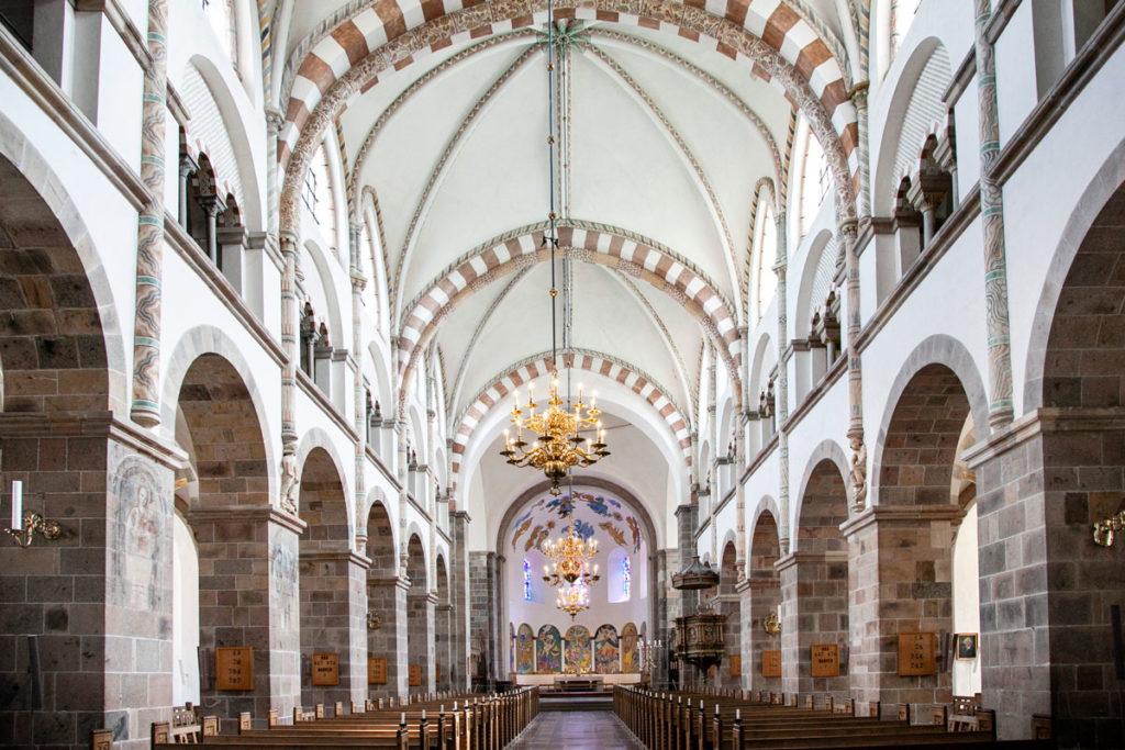 Navata centrale della Cattedrale di Ribe - chiesa più antica di Danimarca