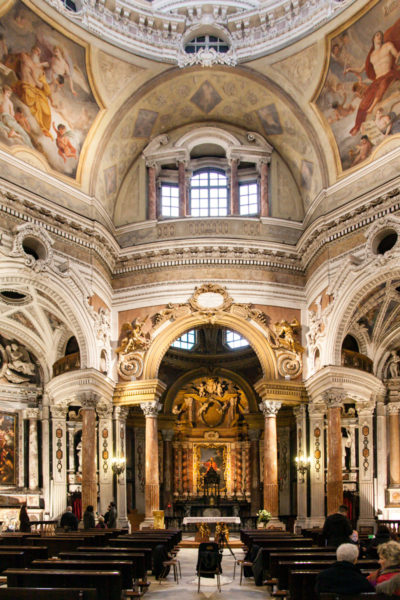 Navata circolare interna della Chiesa di San Lorenzo