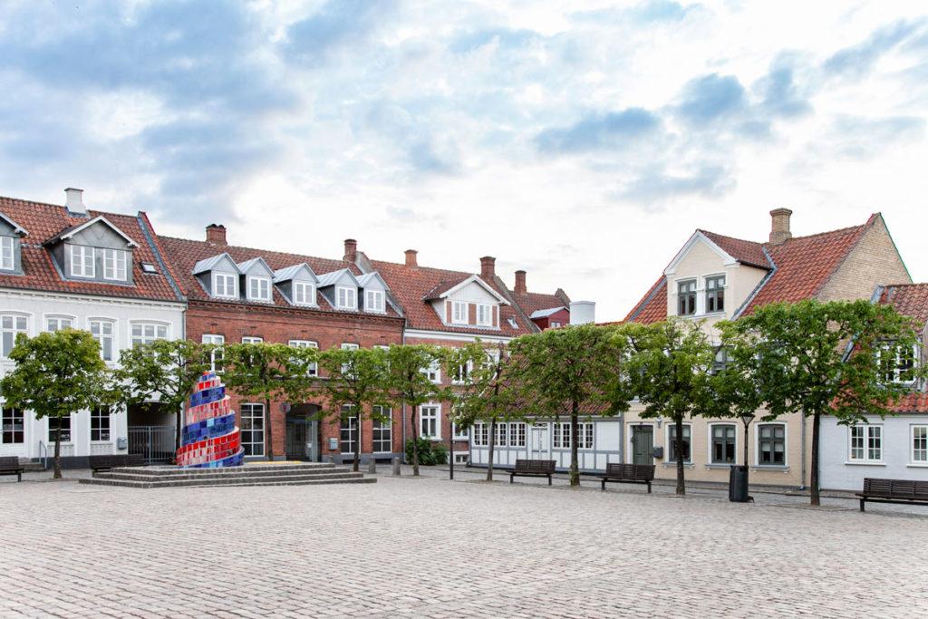 Odense - Piazza Sortebrodre Torv - Vecchio teatro cittadino