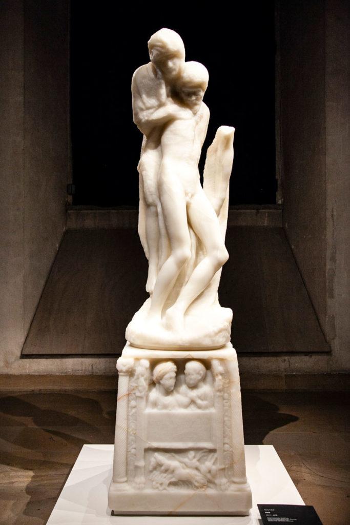 Opera contemporanea sulla Pieta Rondanini - Museo di Arte Antica - Milano