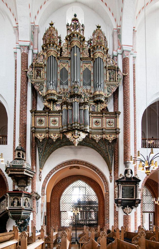 Organo della Cattedrale di Roskilde - Facciata del 1654