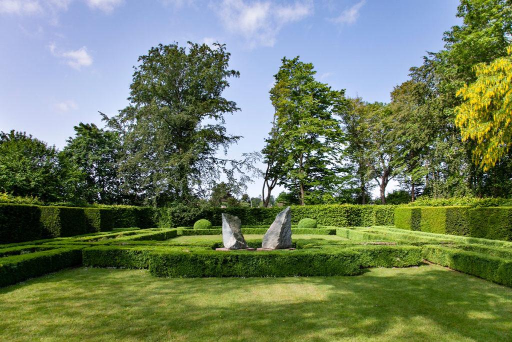 Parco al fianco della residenza di campagna trasformata nel museo Ordrupgaard