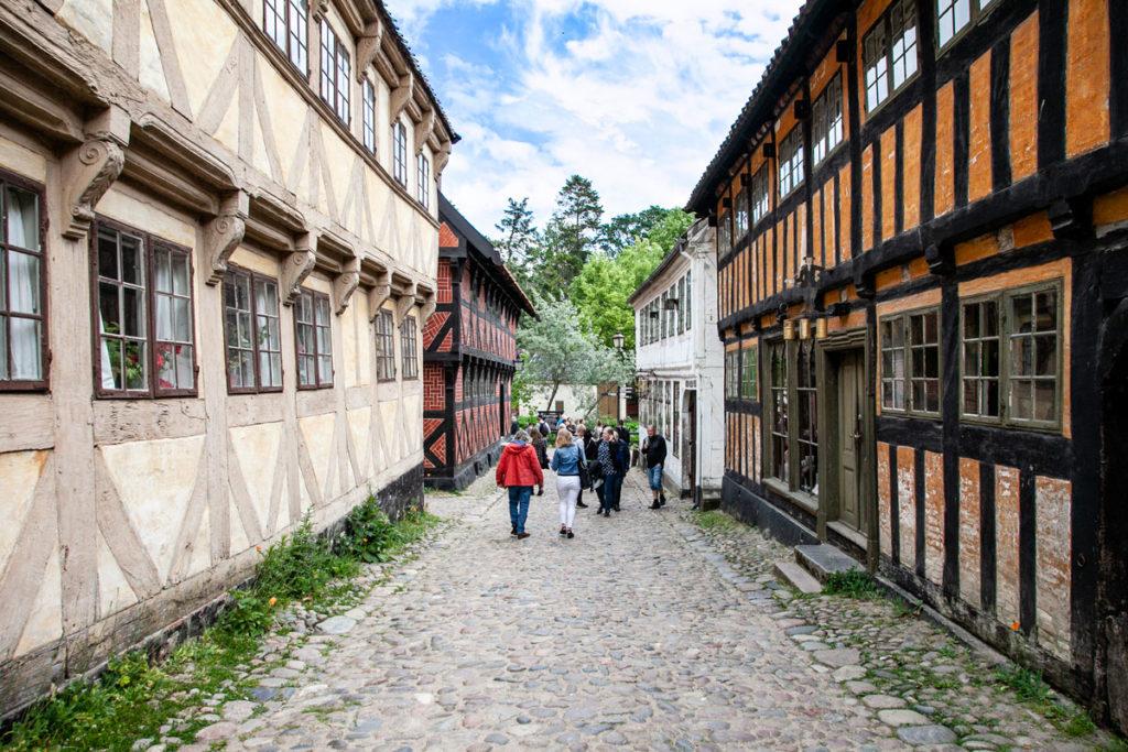 Passeggiata tra edifici storici provenienti da tutta la Danimarca - Jutland