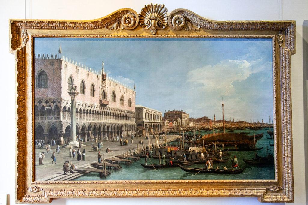 Pinacoteca del Castello Sforzesco - Canaletto - Riva degli Schiavoni vista verso est