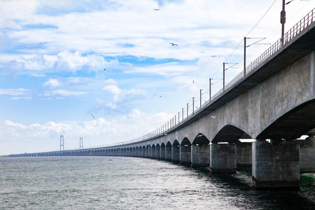 Ponte Storebæltsbroen - Collegamento tra Selandia e isola di Fyn