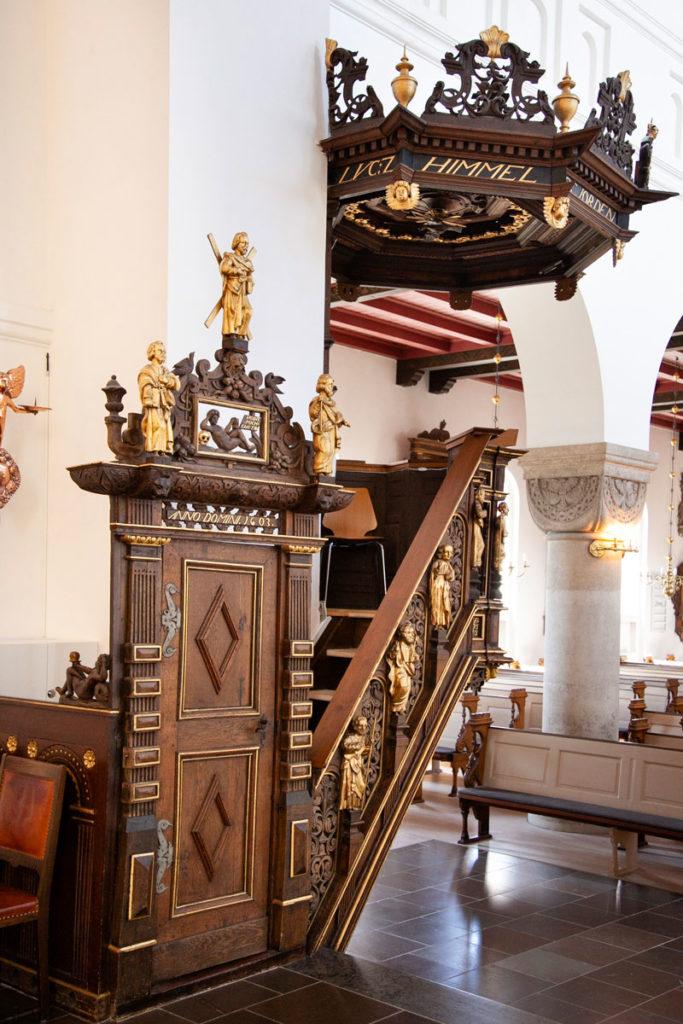 Pulpito del 1581 - Chiesa Vor Frue Kirke